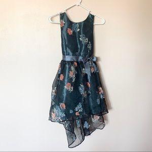 Zunie Blue Gray Floral Girl Dress